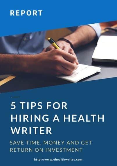 Health article writer